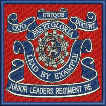 Junior Leaders RE embroidered Badge